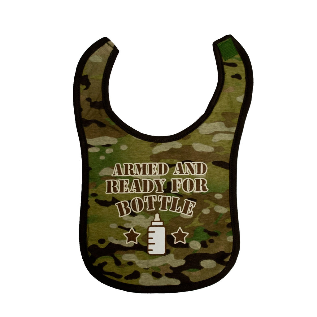 Multicam® Armed and Ready Cotton Bib-justbabywear