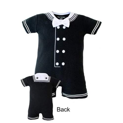 Navy Romper – Black-justbabywear