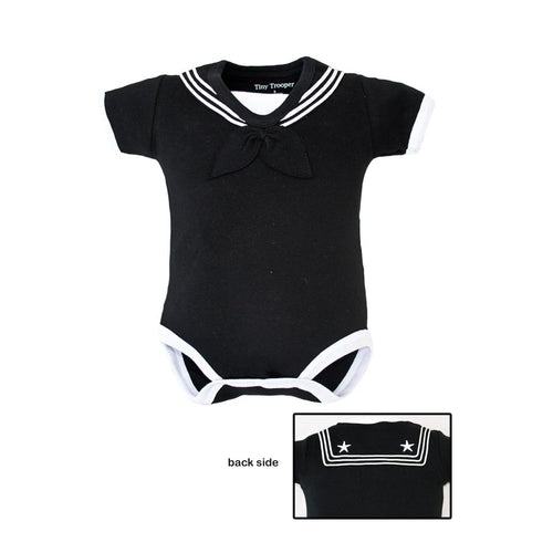 Navy Sailor Bodysuit Black-justbabywear