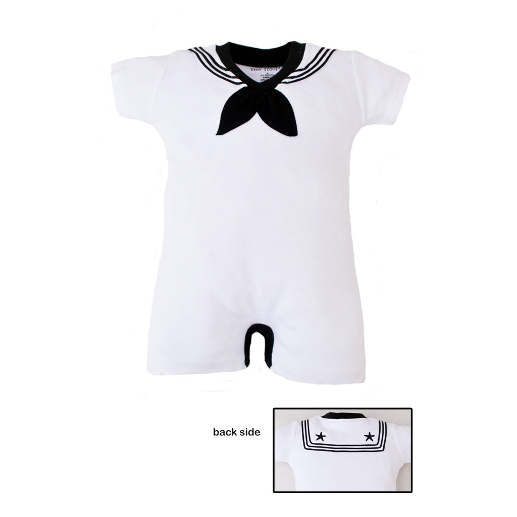 Navy Sailor Creeper White-justbabywear