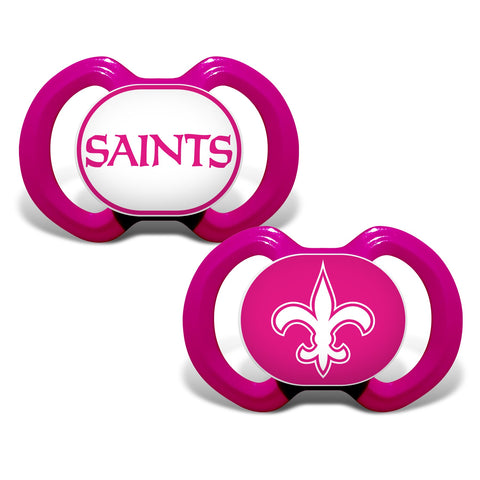 New Orleans Saints Gen. 3000 Pacifier 2-Pack - Pink