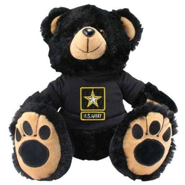 US Army Star Logo Black Plush Toy Teddy Bear-justbabywear