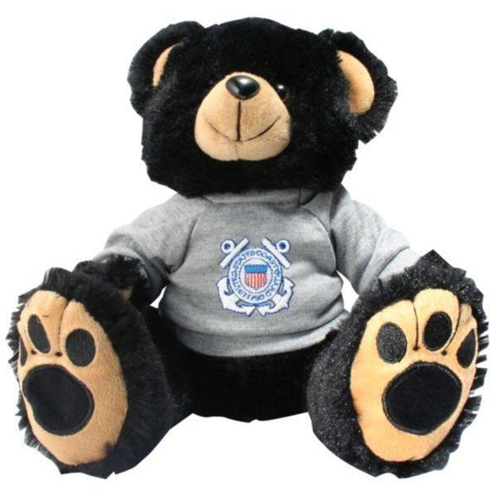 US Coast Guard Black Stuffed Plush Toy Teddy Bear-justbabywear