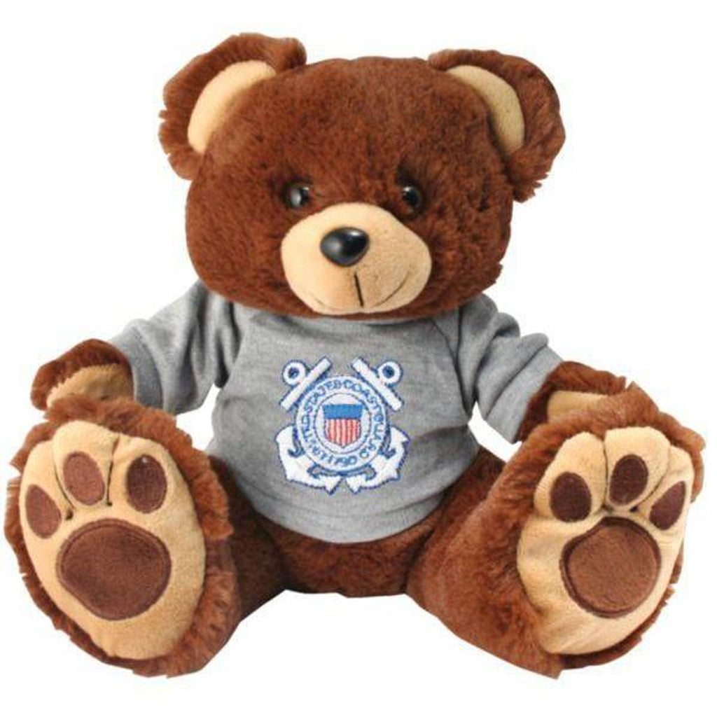 US Coast Guard Brown Stuffed Plush Toy Bear with Big Paw-justbabywear