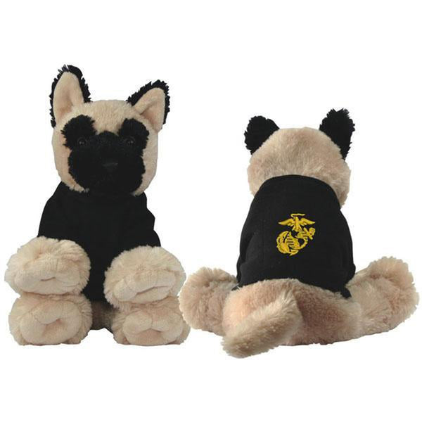 US Marines Stuffed Plush German Sheperd Toy-justbabywear