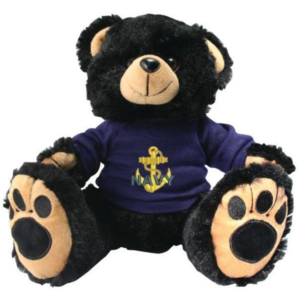 US Navy Black Plush Toy Teddy Bear-justbabywear