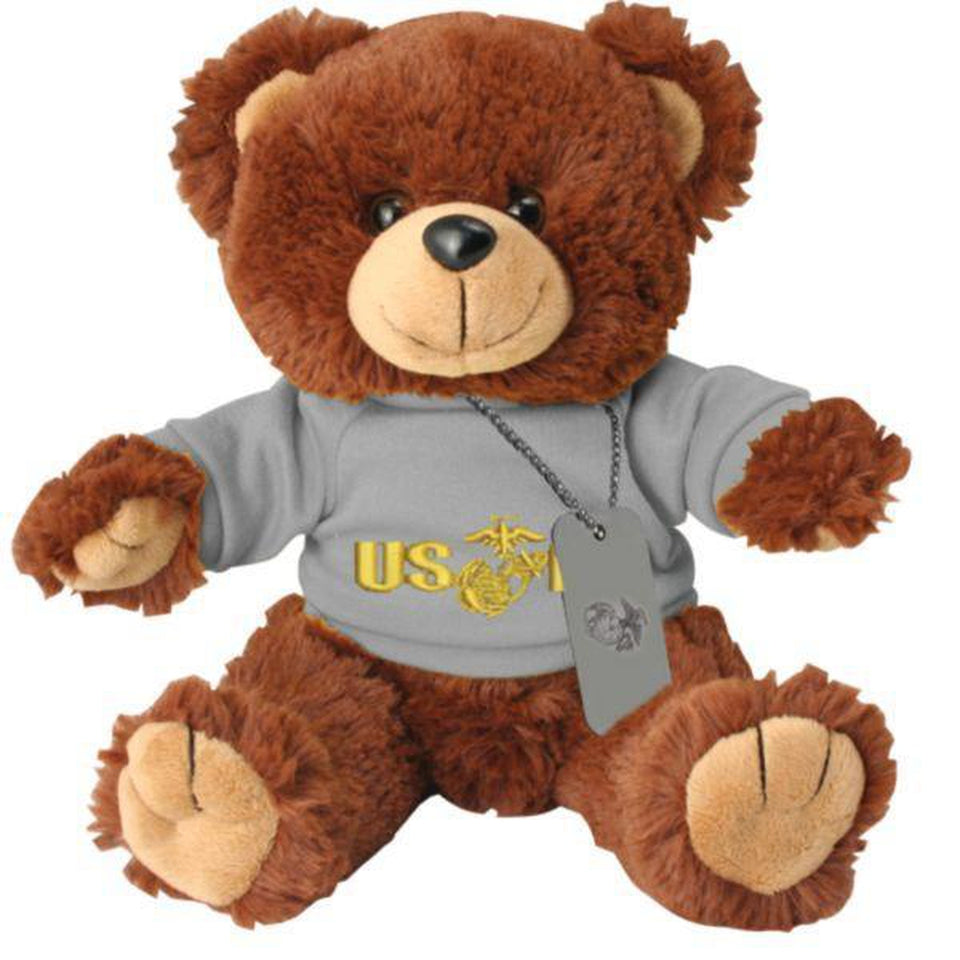 USMC PT Outfit with Dog Tag on Stuffed Plush Bear Toy-justbabywear