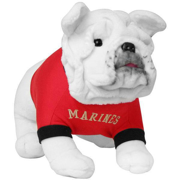 USMC White Marines Stuffed Plush Toy Dog-justbabywear