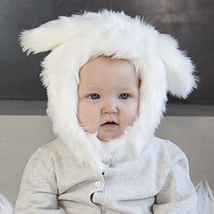 White Rabbit Faux Fur Eskimo Hat for Infants & Toddlers
