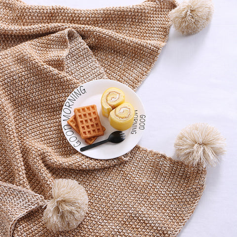 Cotton Leisure Knitted Blanket
