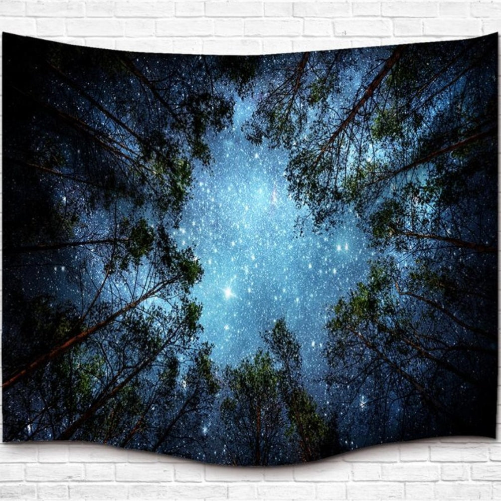 Bohemian Wall Hanging Galaxy Sky Tree Tapestry