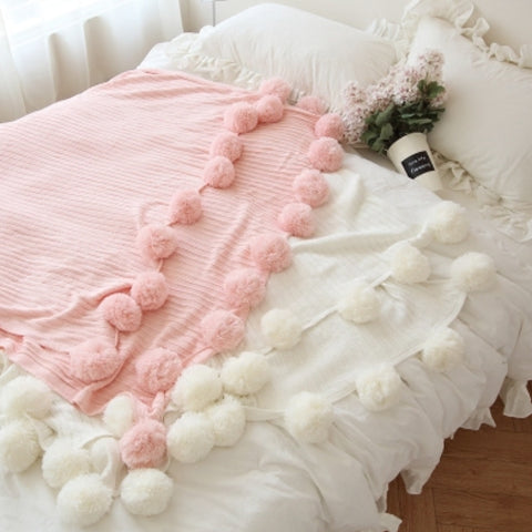 Knitted Cotton Soft  Throw For Bed Sofa