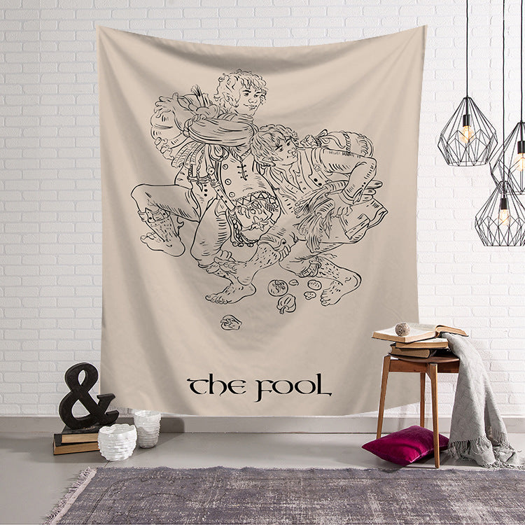 Nordic Minimalist Style Wall Blanket,Tarot Tapestry for Home Decor