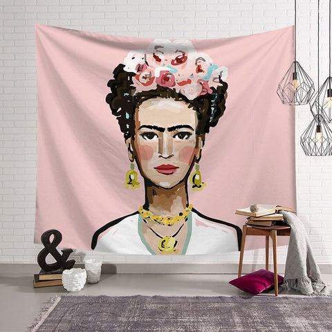 Hyha Frida Kahlo Self-Portrait tapestry  Wall Hanging Tapestry