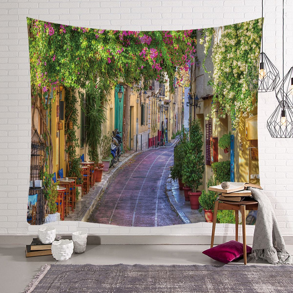 Ins Nordic European Town Bedroom Decoration Fabric Wall Tapestry Wall Blanket Tarpaulin