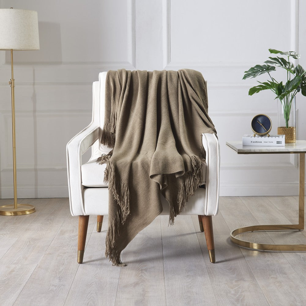 Knitted Soft Throw Blanket For Sofa Couch