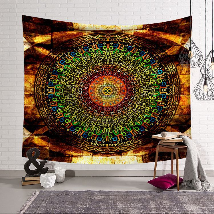 WALL HANGING TAPESTRY, INDIAN COMPASS TAPESTRY FOR HOME DECOR