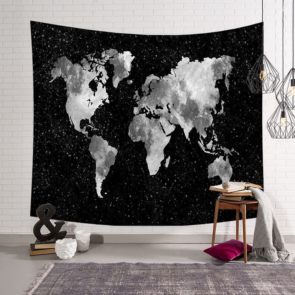 Map Tapestry Wall Hanging Home Decor for Living Room Bedroom