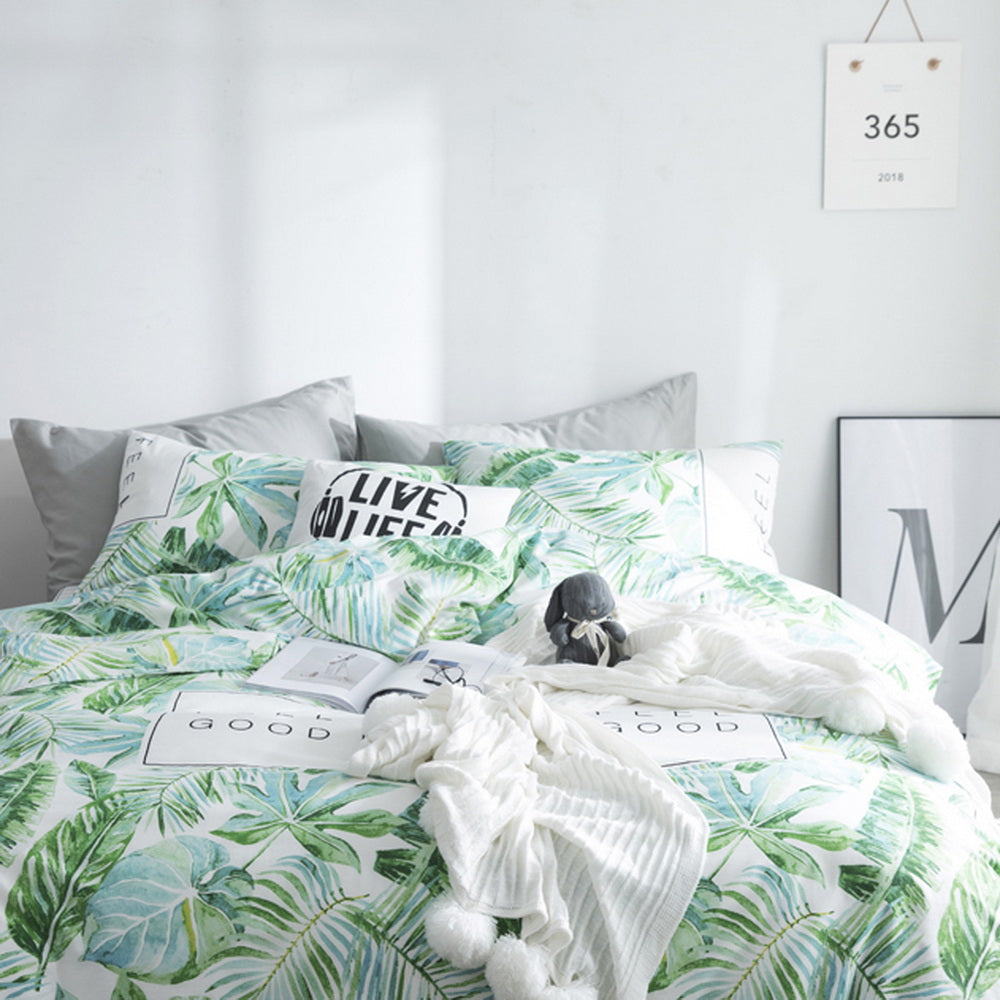 3 Pieces Printing Duvet Cover Set Cotton Soft Bedding Set