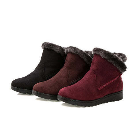 Winter Women's  Snow BootsWarm Fur  Short Boots