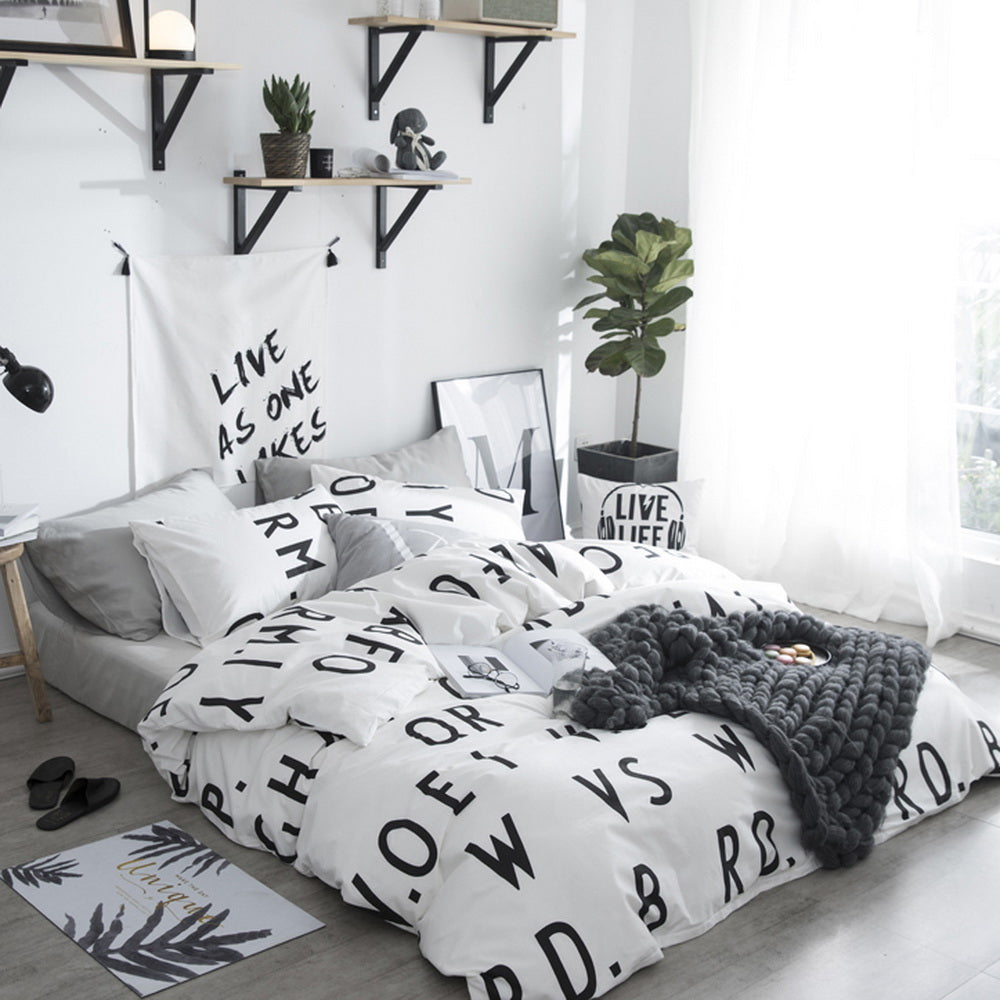 Printed Duvet Cover Set 3 Piece 100% Cotton