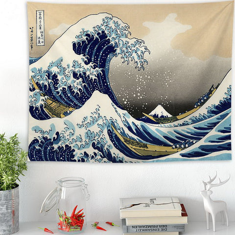 Great Wave Kanagawa Wall Tapestry