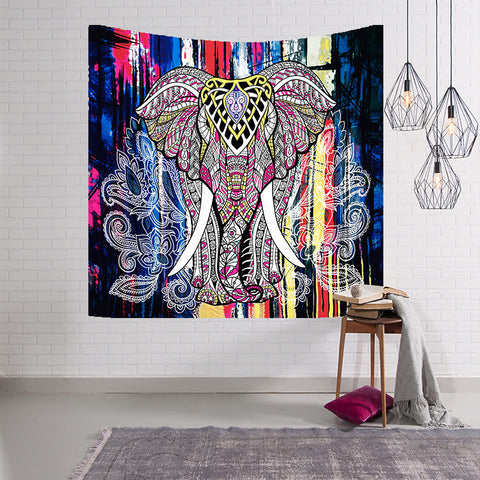 Elephant Tapestry Wall Hanging Decor Indian Home Hippie Bohemian Tapestry