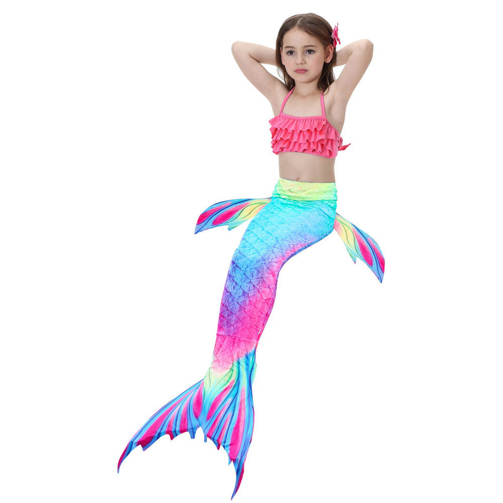 Girls Swimmable Mermaid Tail Swimsuit