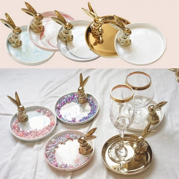rabbit decorative ornaments storage dish