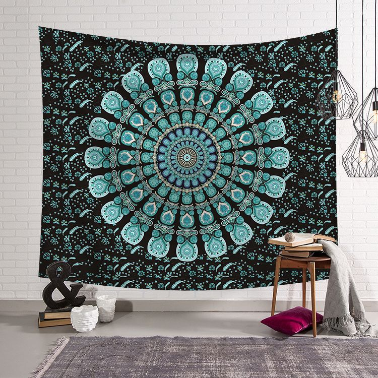 India Compass Mandala Pirnt Wall Hanging Tapestry