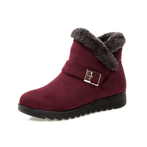 Winter  Snow Boots Warm Fur  Short Boots