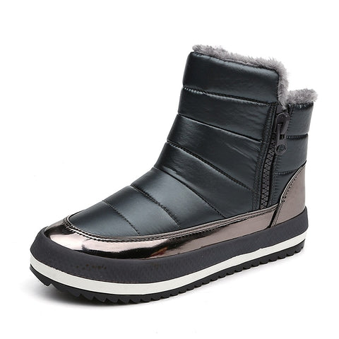 Korean style snow boots side zipper  ankle boots