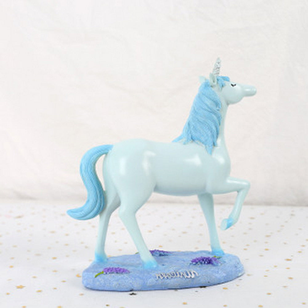 Blue unicorn home decoration ornament