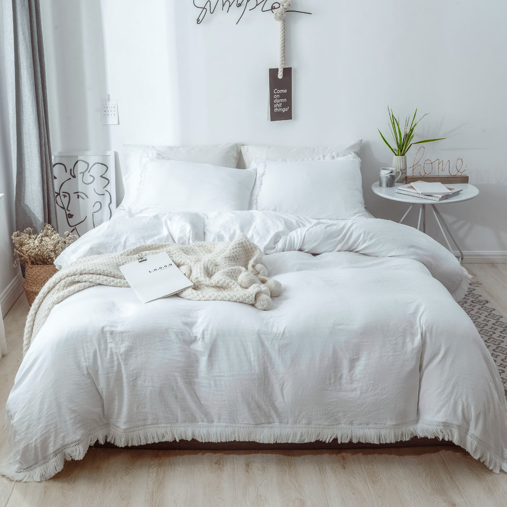 3-piece Tassel   Duvet Cover Set