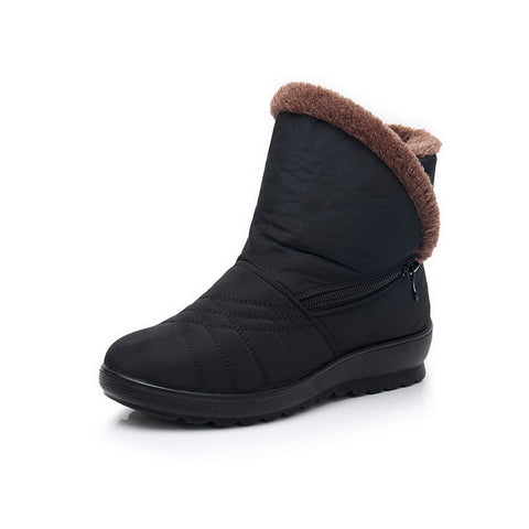 Women's Winter Plus Velvet  Mother Middle-Aged Women's Warm snow boots