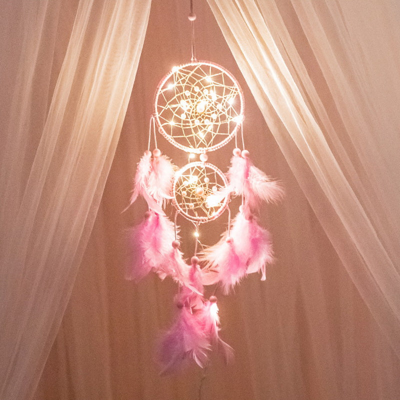 Light Up Dream Catchers for Bedroom Wall Hanging Decorations