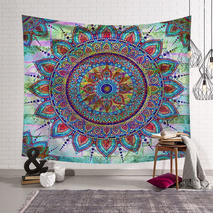 Indian Compass Tapestry for Home Decor, Wall Hanging Tapestry