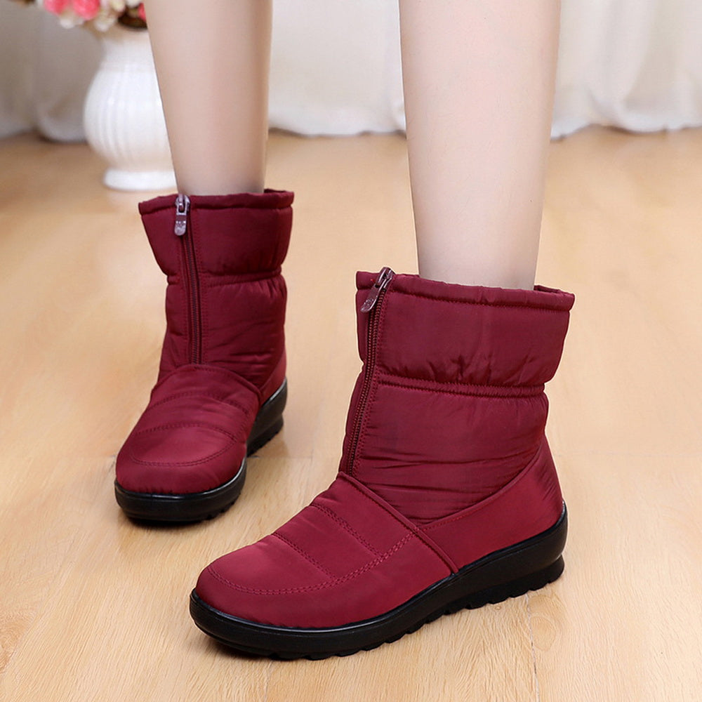 Winter Non-Slip Waterproof  Middle-Aged Cotton Shoes Warm Snow Boots