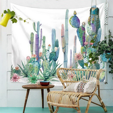Wall Tapestry  Cactus Tapestry Wall Hanging Decor