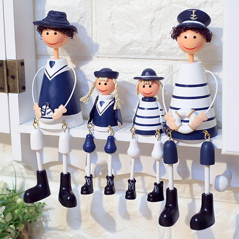 Mediterranean Style Family Naval Doll Home Decoration