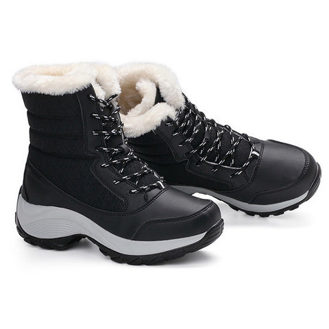 Women Snow Boots /Black Women Winter Boots  / Women Ankle Boots