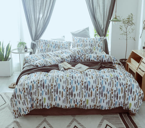3 Piece 100% Cotton Constellation Printed Duvet Cover Set