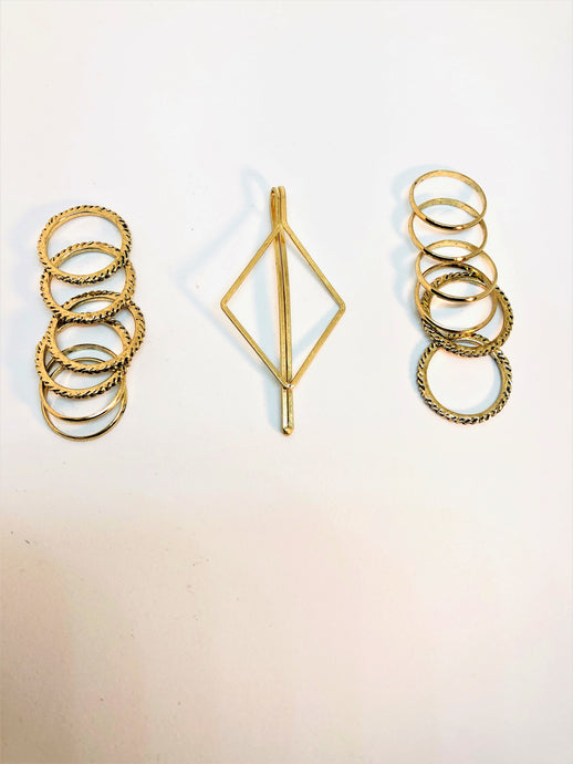 Gold Stacks Rings