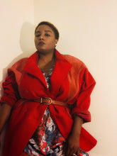 Red Velvet Wool Coat: Vintage Margaret Godfrey for Bagatelle Coat