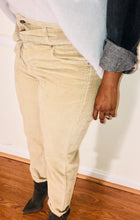 Royal High Waist Corduroy Trousers - Khaki