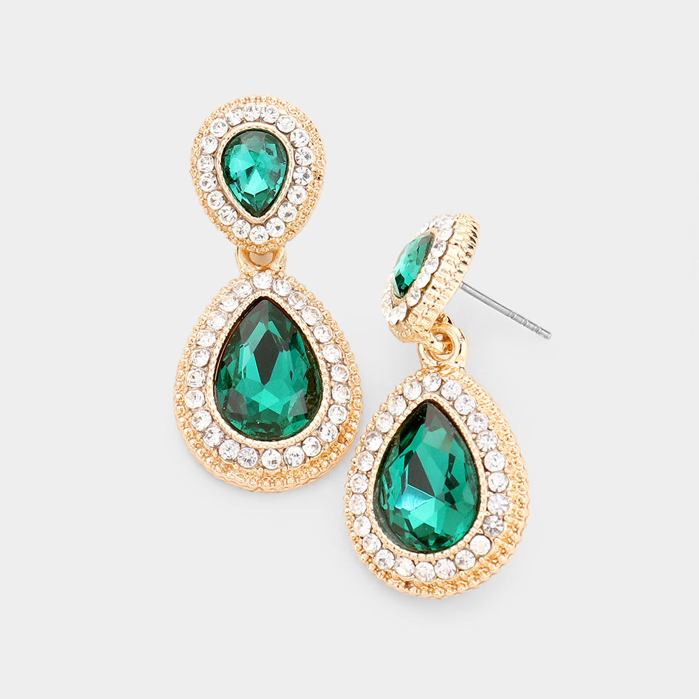 Ritzy Tear Drop Earrings