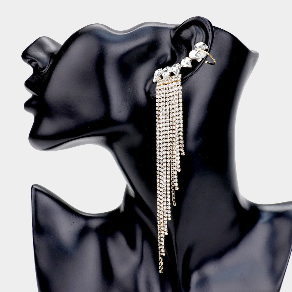 Iced Out Fringe Ear Cuffs