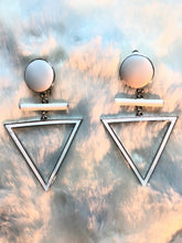 Art Deco Triangle Earrings