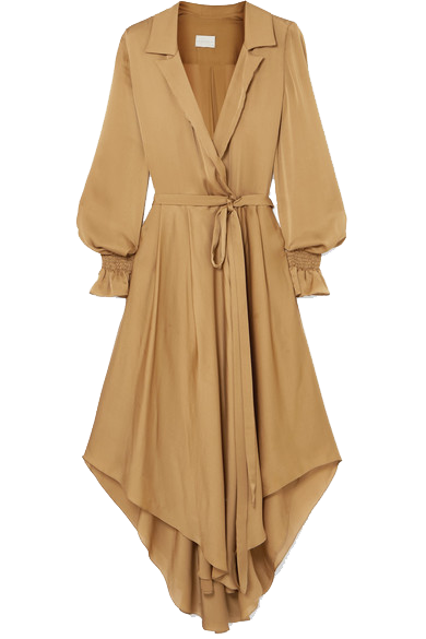 THE INES ORIENTAL SILK OPEN COLLAR SHIRT DRESS