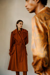 THE TILDA TRENCH COAT IN SADDLE